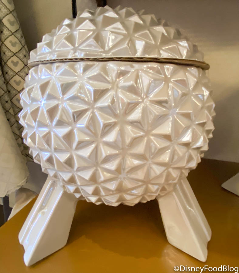 We Re Thanking The Phoenicians For New Spaceship Earth Cookie Jar In Disney World Food Blog