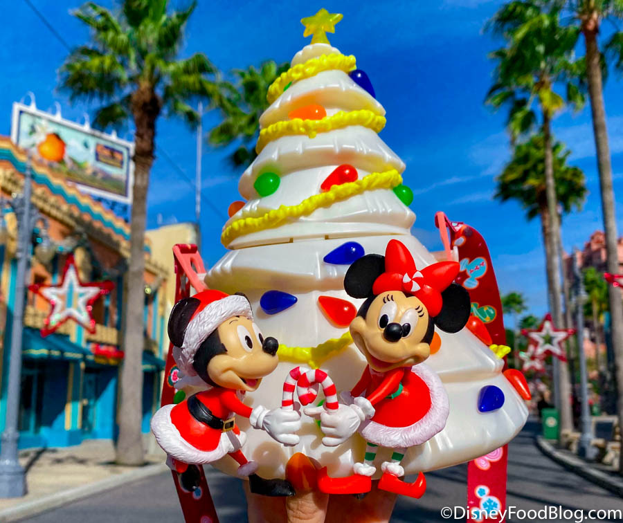 The White Christmas Tree Popcorn Bucket Is BACK in Stock in Disney