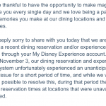 Disney World Emails Those Impacted By the Dining Glitch About Their $25 Gift Cards