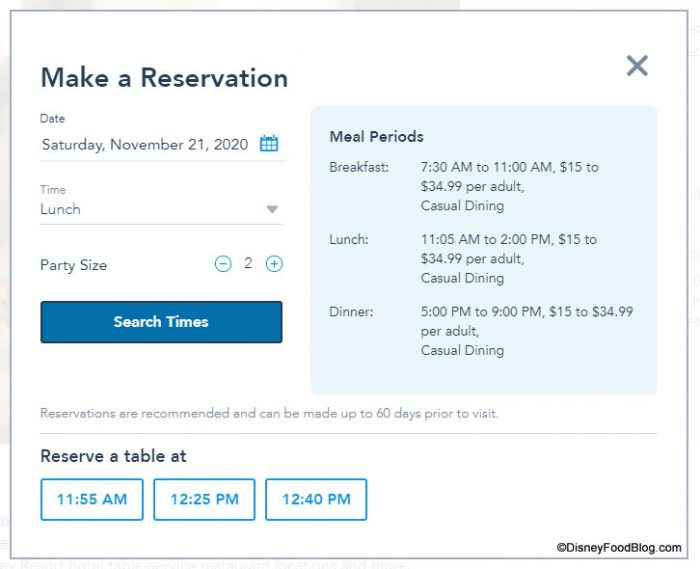 Booking Dining Reservations At Disney The Disney Food Blog