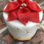 PHOTOS and REVIEW: New Picture-Perfect Poinsettia Cake in Disney World