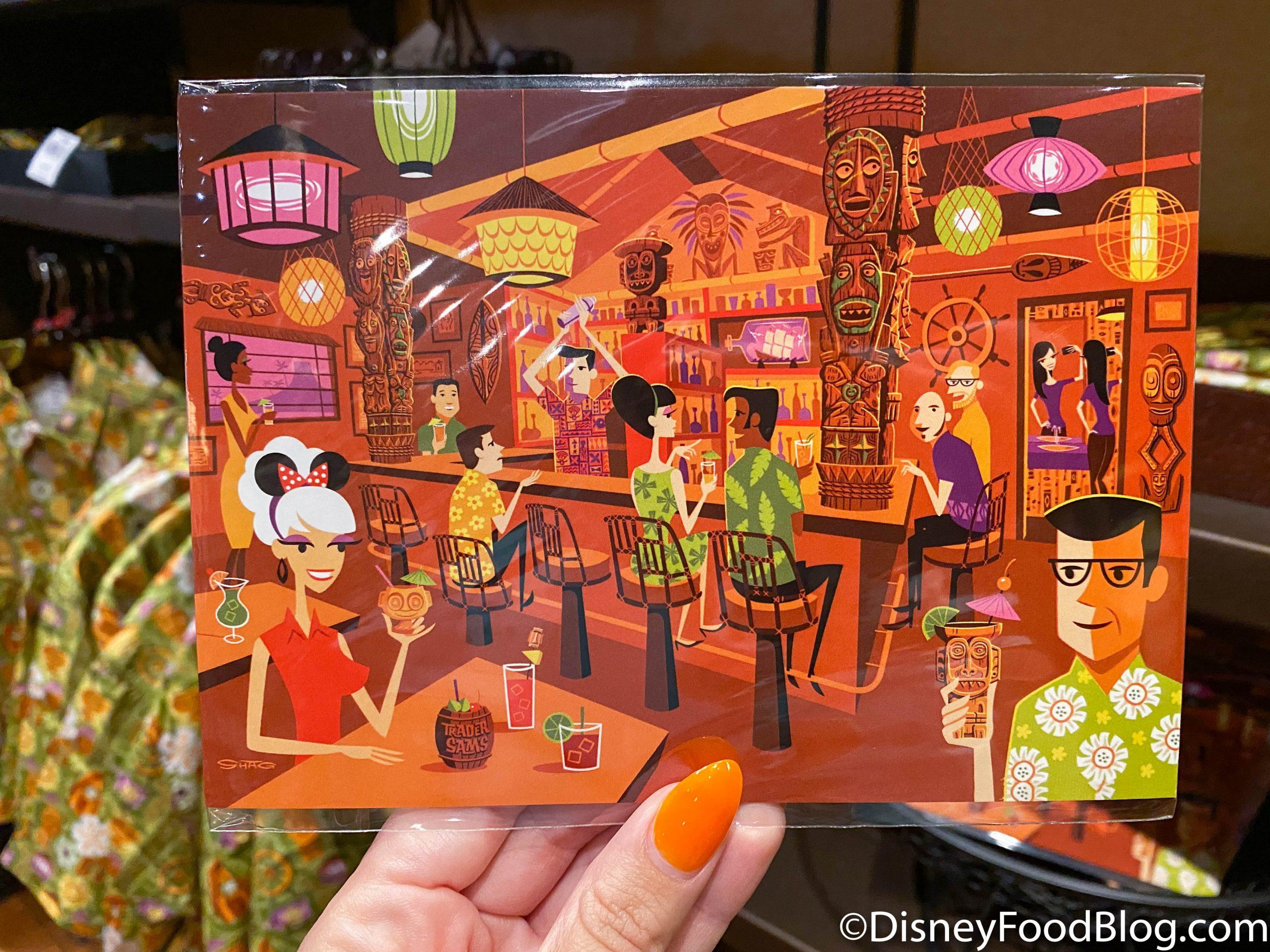 New Disney 2020 SHAG Trader Sam/'s Enchanted Tiki Bar Disney Luggage Tag