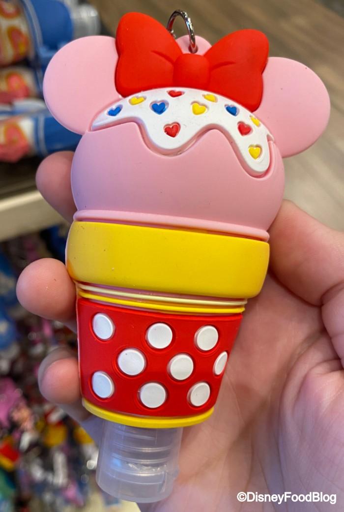 2020! 2 Disney Parks Minnie /& Mickey Ice Cream Key Chain Sanitizer New Release