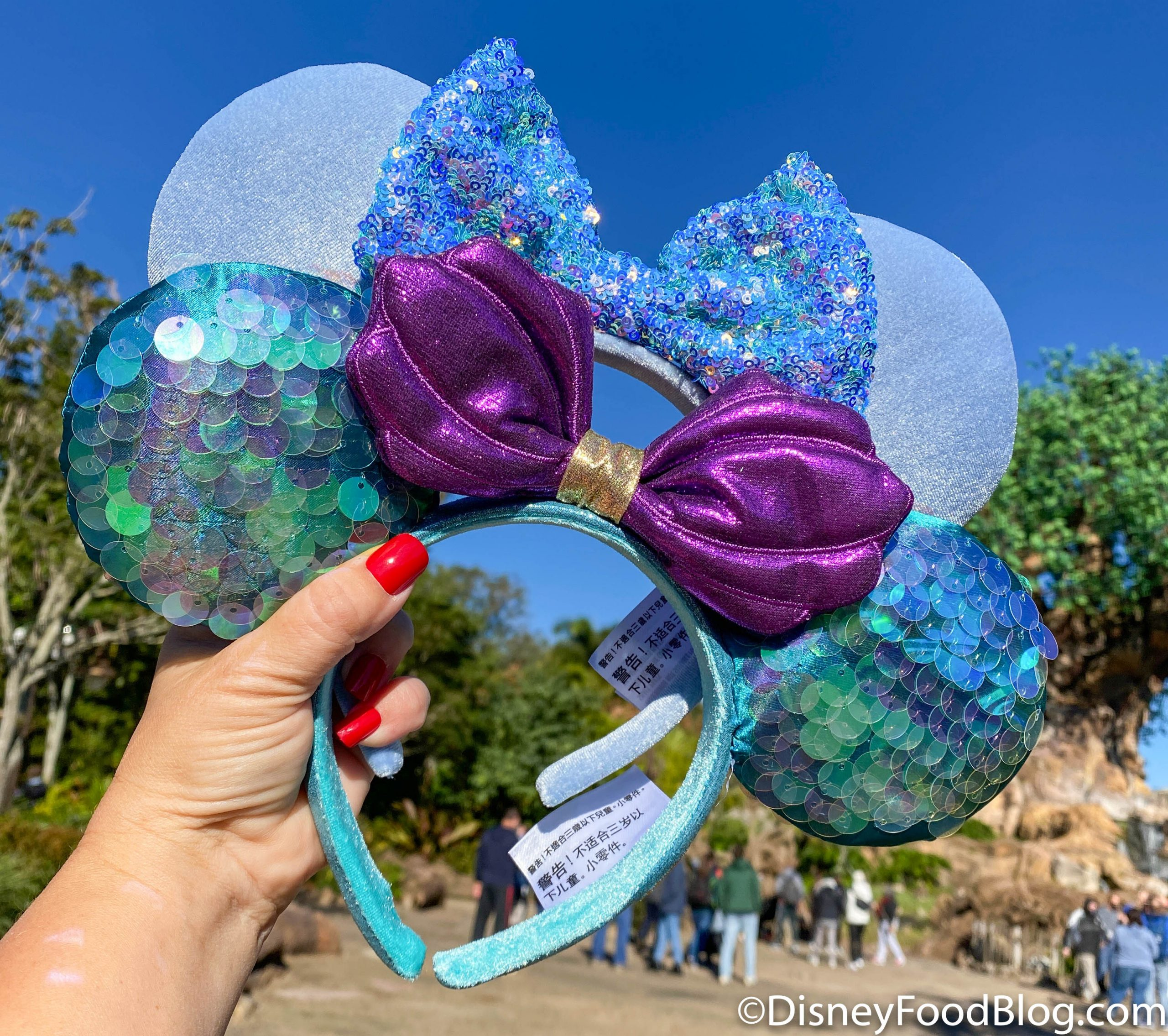 Disney Parks Maleficent Horns Glitter Mouse Ears Headband NEW