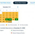 December Park Pass Availability Is Filling Up AGAIN in Disney World!