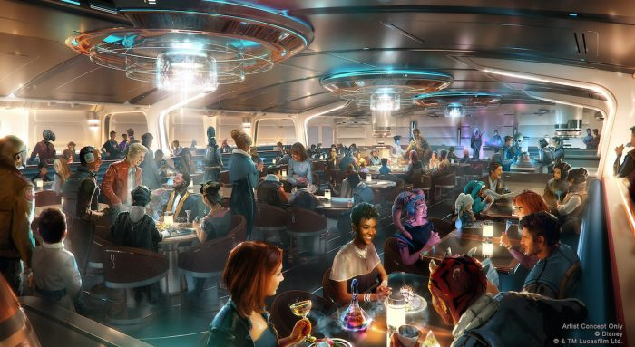 Crown of Corellia Dining Room Concept Art for Star Wars: Galactic Starcruiser