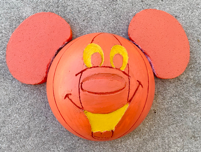 DIY Mickey Pumpkin